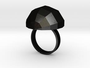 disco ball ring matte  in Matte Black Steel