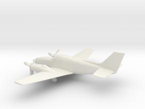 Beechcraft Baron G58 in White Natural Versatile Plastic: 1:100