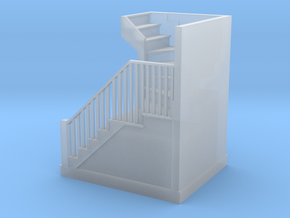 """HO Scale staircase plus steps 10' 4"""" height  in Smoothest Fine Detail Plastic"""