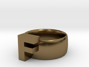 F Ring in Polished Bronze