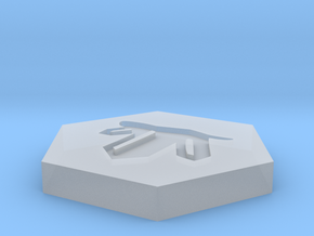 D2 Crystal Symbol Logo in Smoothest Fine Detail Plastic