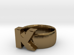 K Ring in Polished Bronze
