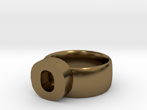 O Ring in Polished Bronze