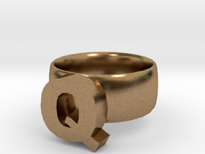 Q Ring in Natural Brass