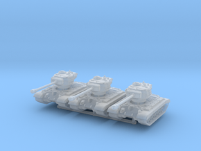 T-26E5 Pershing (skirts) (x3) 1/285 in Smooth Fine Detail Plastic