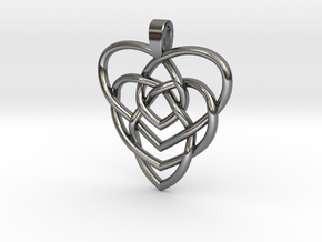 Motherhood Knot No Birthstones in Polished Silver