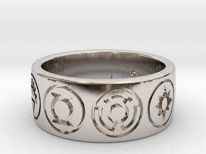GL 9 Symbol Ring in Rhodium Plated Brass: 9 / 59