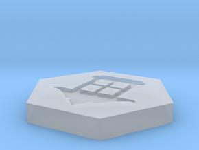 D2 Magic Lantern Symbol Logo in Smoothest Fine Detail Plastic
