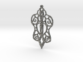 :Baby Lace: Pendant in Fine Detail Polished Silver