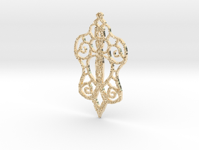 :Baby Lace: Pendant in 14K Yellow Gold