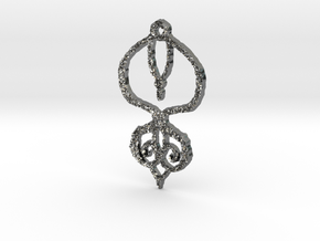 :Baby Lace II: Pendant in Fine Detail Polished Silver