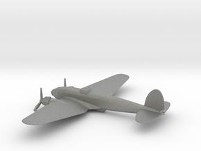 Heinkel He 111 (w/o landing gears) in Gray PA12: 1:200