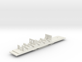 Victorian Railways BCPL Chassis in White Natural Versatile Plastic