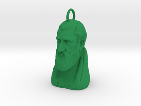 Zeno Keychain 2 inches tall in Green Processed Versatile Plastic