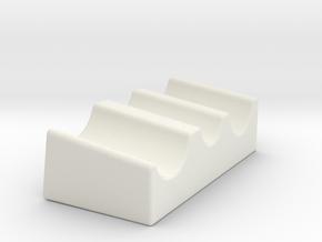 Utensil Holder in White Natural Versatile Plastic
