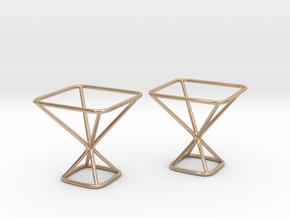 Designer Cufflinks in 14k Rose Gold Plated Brass