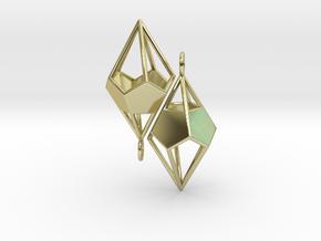 Deltohedron Earrings in 18k Gold Plated Brass