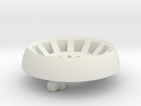 Plug Style 4 in White Natural Versatile Plastic
