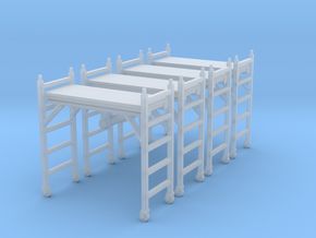 Scaffolding Unit (x4) 1/100 in Smooth Fine Detail Plastic