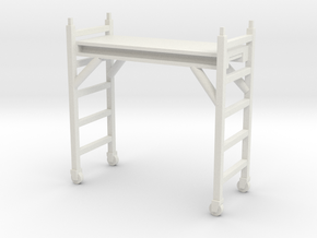 Scaffolding Unit 1/24 in White Natural Versatile Plastic