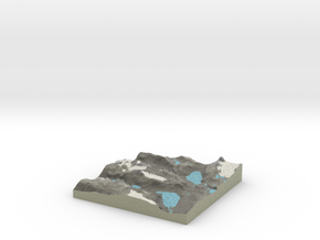 Terrafab generated model Mon Aug 11 2014 10:09:43  in Full Color Sandstone