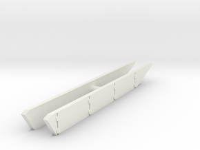 T-62 Side Skirts set 1/76 in White Natural Versatile Plastic
