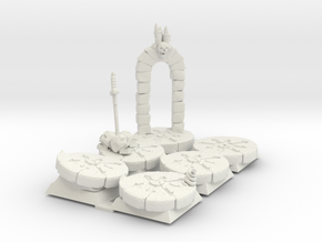 28mm bases: Stone Circles in White Natural Versatile Plastic