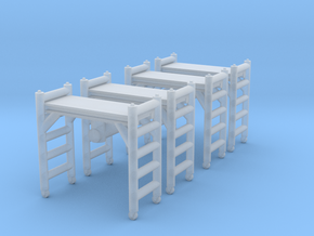 Scaffolding Unit (x4) 1/120 in Smooth Fine Detail Plastic