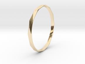 65mm Bangle - Audrey Hepburn inspired design in 14k Gold Plated Brass