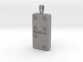 Domino Pendant, Ornament, Keychain[1:1 Scale] in Gray PA12