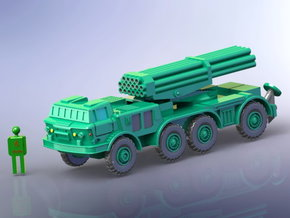 BM27 Uragan MRLS 1/144 in Smooth Fine Detail Plastic