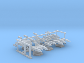 7000 Scale Lyran Fleet Special Ships  Collection in Smooth Fine Detail Plastic
