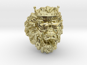 Solid Gold Signet, Lion Ring, Leo Ring, Men Ring in 18K Yellow Gold