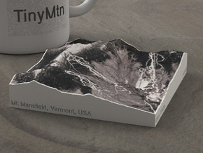 Mt. Mansfield in Winter, Vermont, USA, 1:50000 in Natural Full Color Sandstone