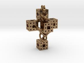 Crucifixum Fractalum Mathematicae - Argentum Unum in Natural Brass