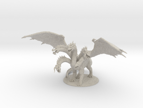 Tiamat , Queen of all Chromatic Dragons in Natural Sandstone