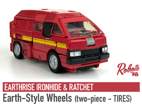 [2PC] ER Ironhide/Ratchet Wheels - Tire Part in White Natural Versatile Plastic