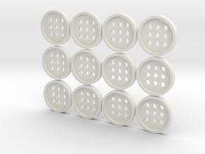 "5/8"" alphabet buttons (dozen) in White Natural Versatile Plastic"