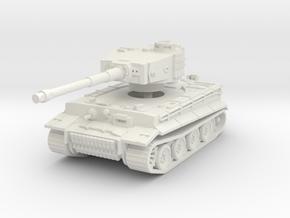 Tiger I mid 1/56 in White Natural Versatile Plastic