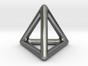 TETRA - Pendant in Fine Detail Polished Silver