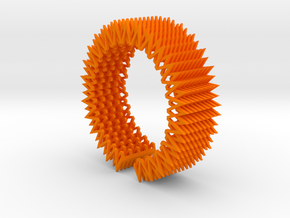 Spike Bracelet - Flexible Medium Size in Orange Strong & Flexible Polished