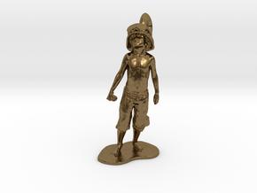 Boy Soldier Pendant in Natural Bronze