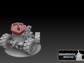 Panzer Buggy AA Turret in White Natural Versatile Plastic
