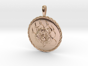 BEAR Pawn Jewelry Pendant in 14k Rose Gold Plated Brass