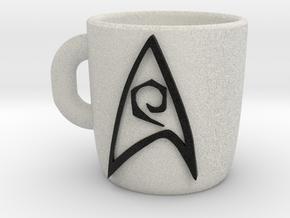 Star Trek  Expresso Cup in Natural Full Color Sandstone