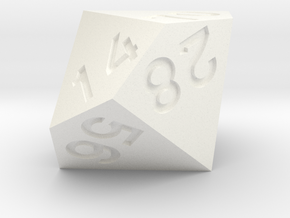 7 times table d10 in White Processed Versatile Plastic