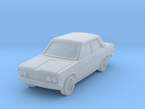 Datsun 510 2door in Smoothest Fine Detail Plastic: 1:100