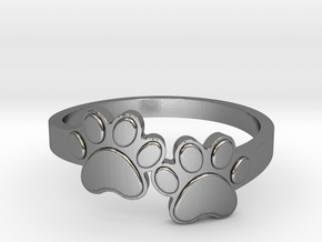 Dog Paws Ring_size 7 in Polished Silver