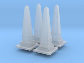 Obelisk Monument (x4) 1/220 in Smooth Fine Detail Plastic