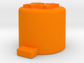 Four star button in Orange Processed Versatile Plastic